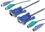 Aten-2L-1010P-C-Kvm-Kabel-Vga-Female-15-pins-2x-Ps-2-Female-Vga-Male-2x-Ps-2-connector-2x-3.5-Mm-Male-10.0-M