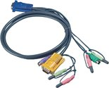Aten-2L-5302P-Kvm-Kabel-Vga-Male-2x-Ps-2-connector-2x-3.5-Mm-Male-Sphd15-y-2x-Connector-3.5-Mm-1.8-M